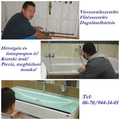 Vízszerelő diósd fűtésszerelő, csatornázás fotó